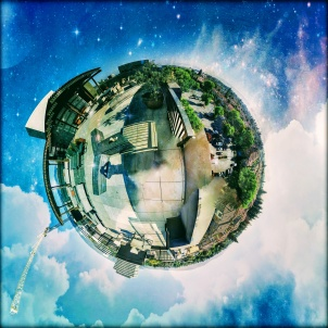 Tiny Planet of Misora Rooftop | Santana Row | | Fate Of 8 O 8 mediA ©