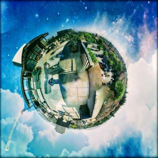 Tiny Planet of Misora Rooftop   Santana Row     Fate Of 8 O 8 mediA ©