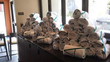 Towel Give Away | Misora Pool Opening