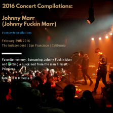 Johnny Marr SF Independent | #concertcompilations