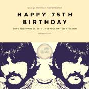 75th Birthday George Harrison | Fate Of 8 O 8 mediA ©