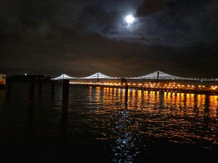Bay Bridge with LED installation