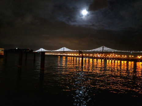 Bay Bridge with LED installation